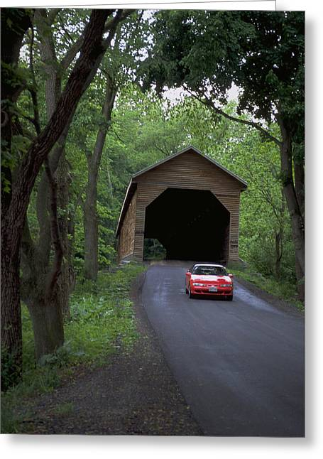Rural Indiana Greeting Cards - Bridges of Madison County Greeting Card by Carl Purcell