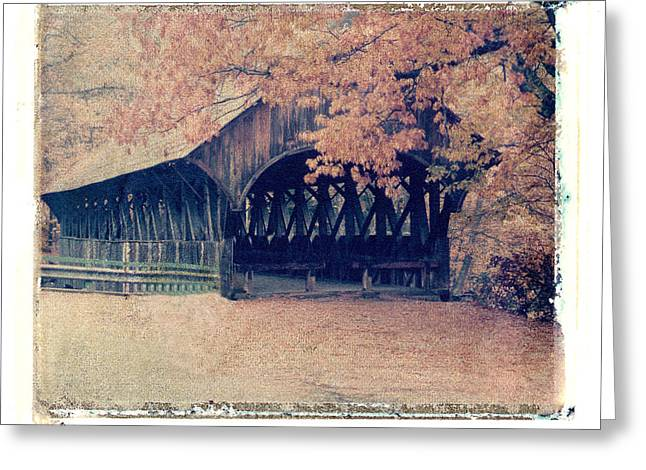 Polaroid Transfer Greeting Cards - Covered Bridge Greeting Card by Joe  Palermo