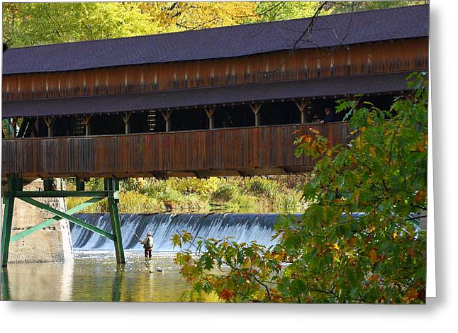 Kevin Schrader Greeting Cards - Covered Bridge Greeting Card by Kevin Schrader