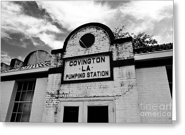 Pumping Station Greeting Cards - Covington Pumping Station Greeting Card by Scott Pellegrin