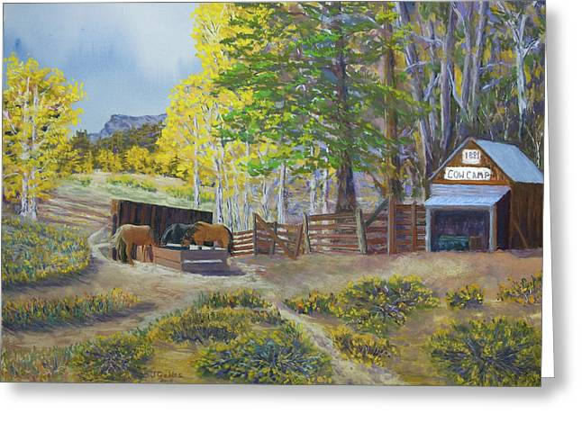Ebbetts Pass Greeting Cards - Cow Camp Greeting Card by James Geddes