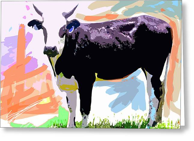 Barnyard Animals Greeting Cards - Cow Time Greeting Card by David Lloyd Glover
