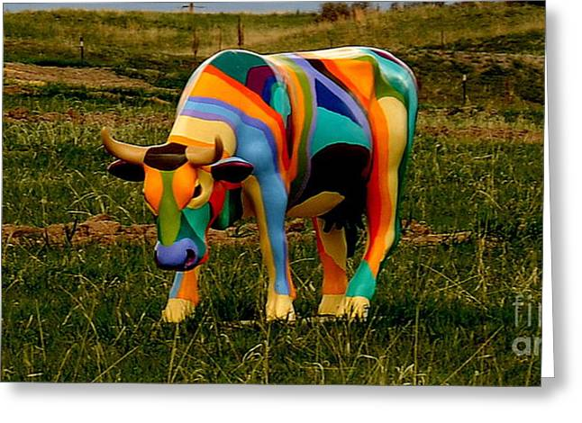Cow Images Photographs Greeting Cards - Cow Wow Greeting Card by Patrick  Short