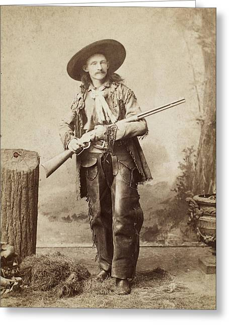 1880s Photographs Greeting Cards - COWBOY, 1880s Greeting Card by Granger