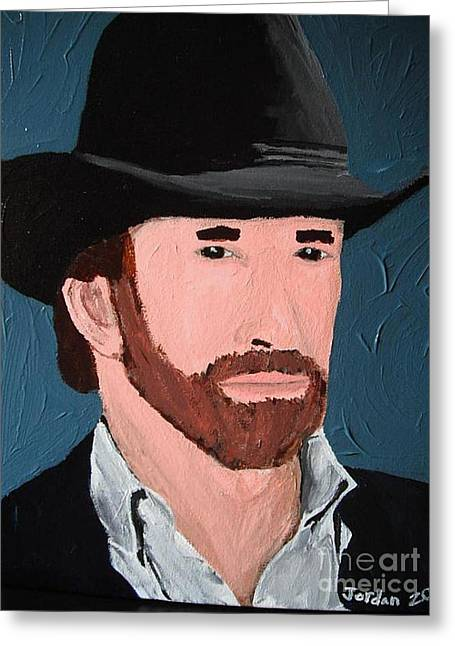 Cowboy Greeting Card by Jeannie Atwater Jordan Allen