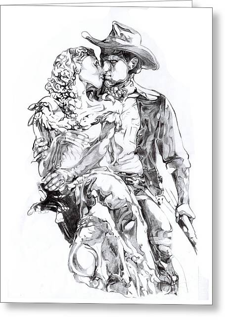 Cowboys Greeting Cards - Cowboy Greeting Card by Mike Massengale