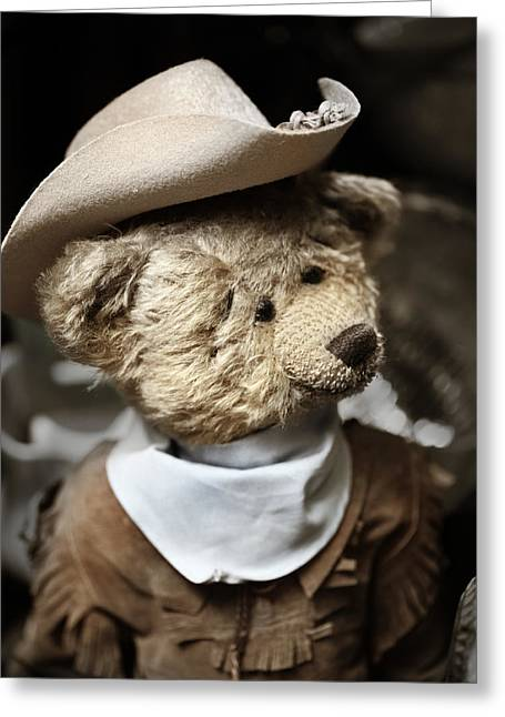 Cowboy Outfit Greeting Cards - Cowboy Teddy 1 Greeting Card by Marilyn Hunt