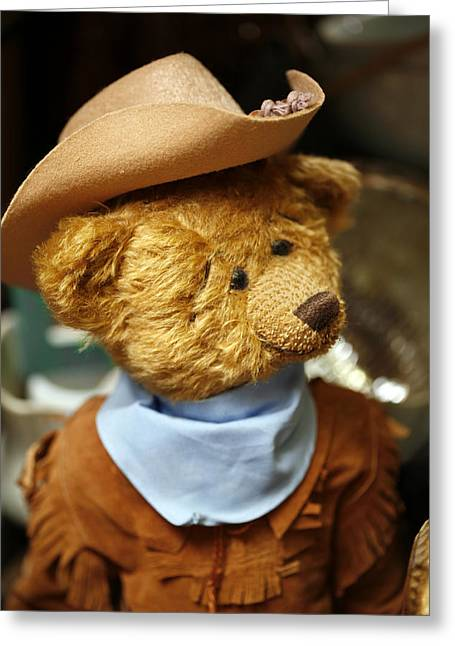 Cowboy Outfit Greeting Cards - Cowboy Teddy 2 Greeting Card by Marilyn Hunt