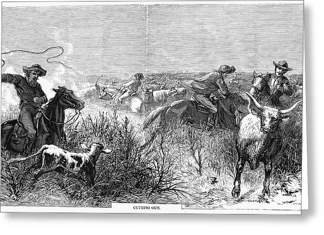 1874 Greeting Cards - Cowboys, 1874 Greeting Card by Granger