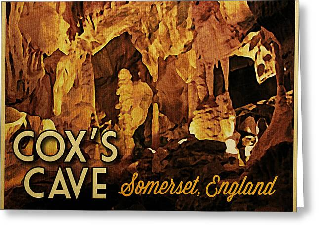 Cavern Greeting Cards - Coxs Cave England Greeting Card by Flo Karp