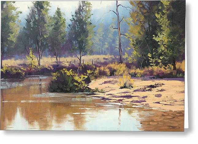 River Paintings Greeting Cards - Coxs River Greeting Card by Graham Gercken