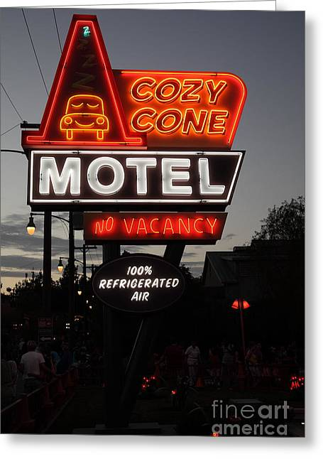 Disney California Adventure Park Greeting Cards - Cozy Cone Motel - Radiator Springs Cars Land - Disney California Adventure - 5D17744 Greeting Card by Wingsdomain Art and Photography