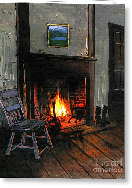 Robert Foster Greeting Cards - Cozy Greeting Card by Robert Foster