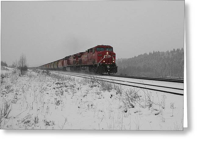 Occupy Beijing. Greeting Cards - CP Rail 2 Greeting Card by Stuart Turnbull