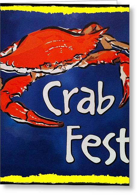 Blue Claws Greeting Cards - Crab Fest Greeting Card by Bill Cannon