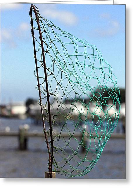 """""""crab Nets"""" Greeting Cards - Crab Net Greeting Card by Mary Haber"""