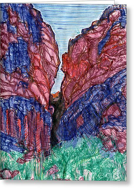 Sketchbook Greeting Cards - Crack In The Earth Greeting Card by Scott Barnes