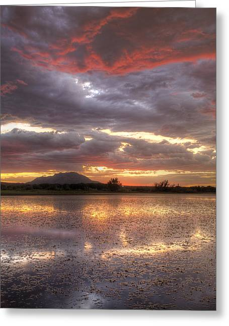 Prescott Greeting Cards - Crack of Dusk Greeting Card by Bob Larson