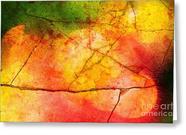 Cracked kaleidoscope Greeting Card by Silvia Ganora