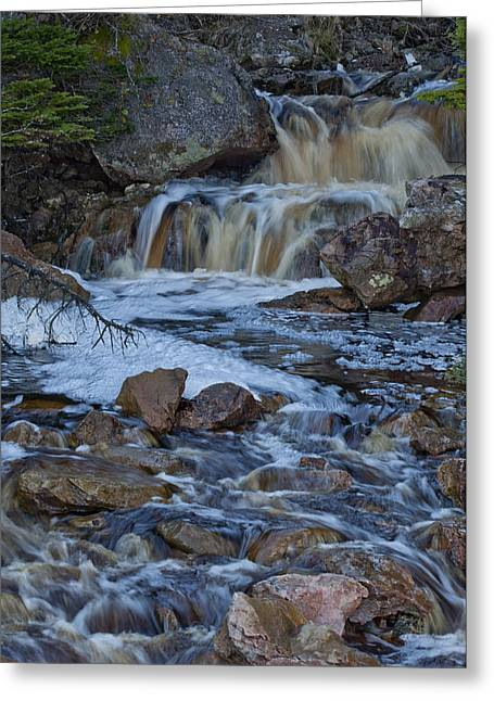 Roger Lewis Greeting Cards - Cranberry Falls Greeting Card by Roger Lewis