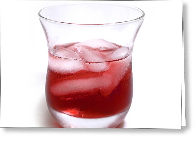 Bartender Greeting Cards - Cranberry juice Greeting Card by Blink Images