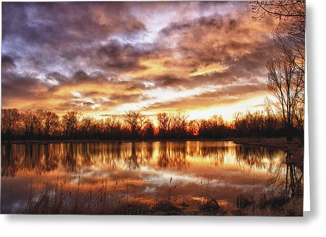 Crane Hollow Sunrise Boulder County Colorado Hdr Greeting Card by James BO  Insogna
