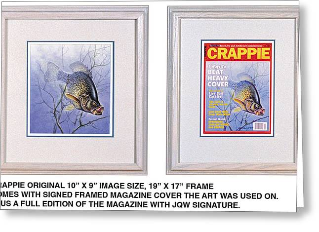 Crappies Greeting Cards - Crappie Magazine and original Greeting Card by JQ Licensing