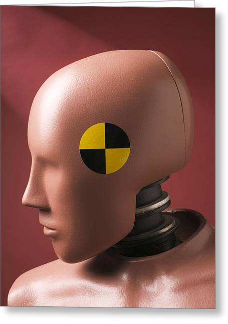 Humanlike Greeting Cards - Crash test dummy Greeting Card by Garry Gay