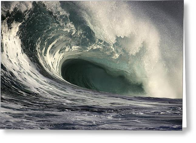 Vince Greeting Cards - Crashing Storm Wave Greeting Card by Vince Cavataio