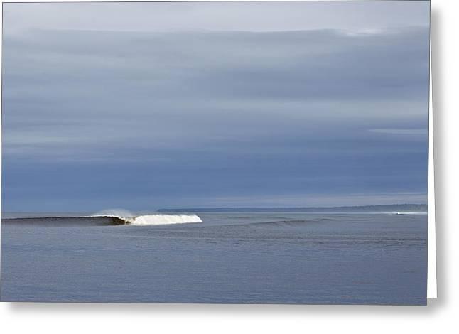 Crashing Wave Greeting Card by Brandon Broderick
