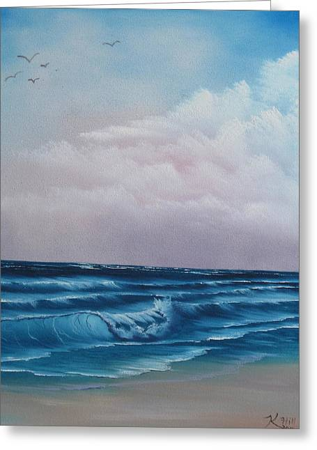 Crashing Wave Greeting Card by Kevin Hill
