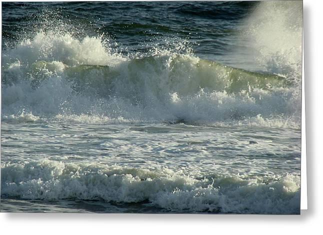 Crashing Wave Greeting Card by Sandy Keeton