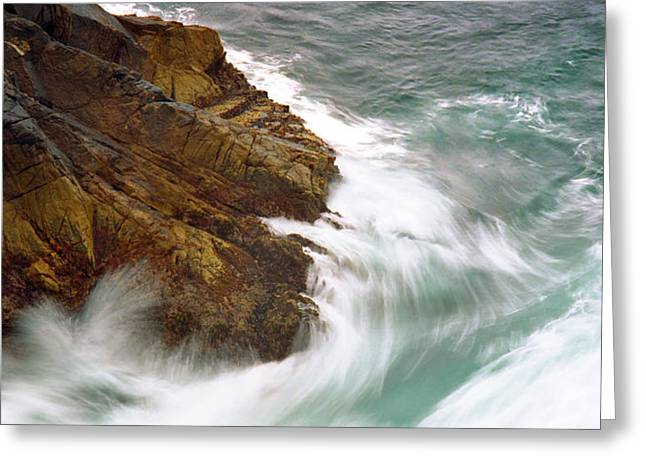 Point Lobos Reserve Greeting Cards - Crashing Waves Greeting Card by Edward Mendes