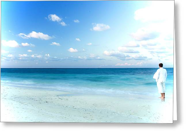White Suit Greeting Cards - Crashing Waves Greeting Card by Kamil Swiatek