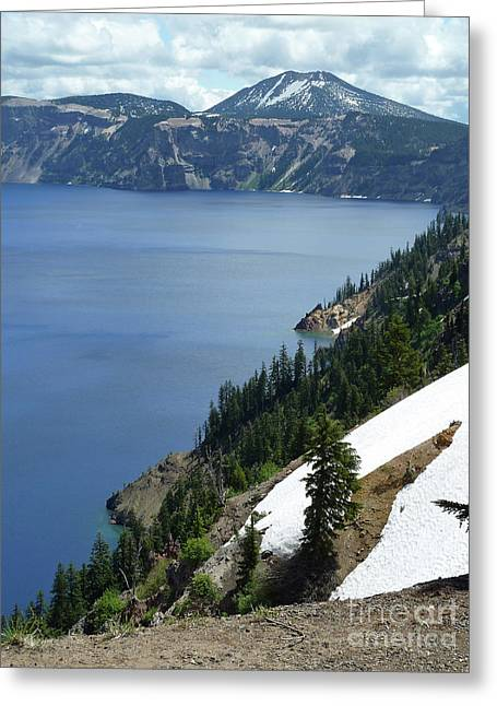 Craters Greeting Cards - Crater Lake 8 Greeting Card by Methune Hively