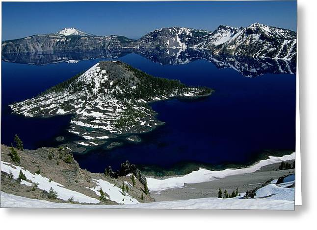 Crater Lake View Greeting Cards - Crater Lake National Park, Oregon Greeting Card by Raymond Gehman