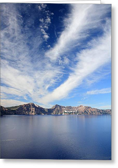 Crater Lake Sky Greeting Card by Pierre Leclerc Photography