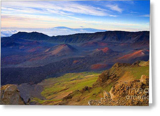 Haleakala Greeting Cards - Craters of PAradise Greeting Card by Mike  Dawson