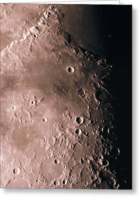 Craters Greeting Cards - Craters On The Moon Greeting Card by John Sanford