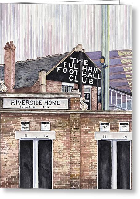 Fulham Fc Greeting Cards - Craven Cottage Greeting Card by Scott Nelson
