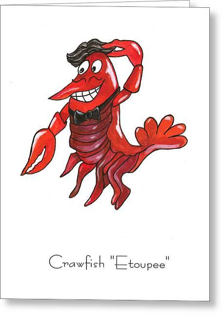 Crawfish Greeting Cards - Crawfish Etoupee Greeting Card by Elaine Hodges