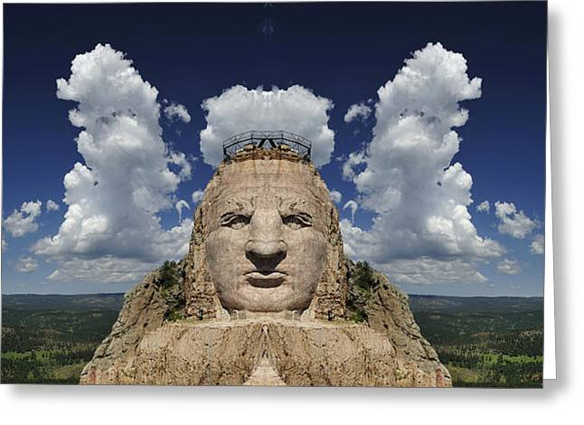 Crazy Horse Photographs Greeting Cards - Crazy Horse Mountain Greeting Card by Christian Heeb