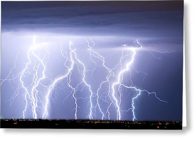"""james Insogna"" Greeting Cards - Crazy Skies Greeting Card by James BO  Insogna"