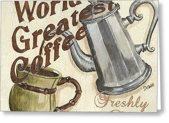 Old Paintings Greeting Cards - Cream Coffee 1 Greeting Card by Debbie DeWitt
