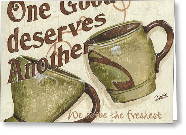 Enjoy Greeting Cards - Cream Coffee 2 Greeting Card by Debbie DeWitt