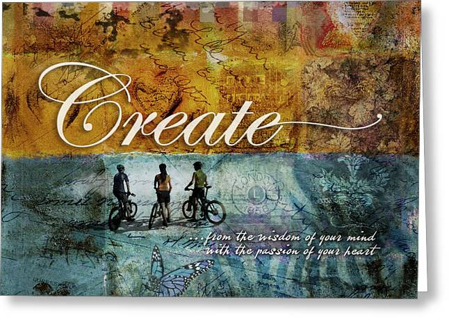 Creation Greeting Cards - Create Greeting Card by Evie Cook