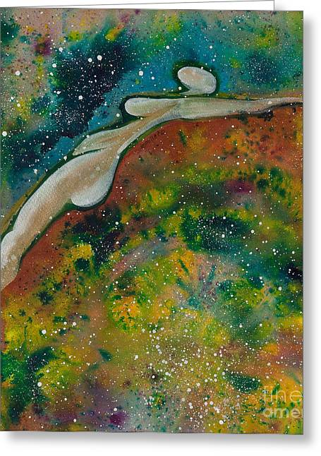 Universal Paintings Greeting Cards - Creating New Energy Greeting Card by Ilisa  Millermoon