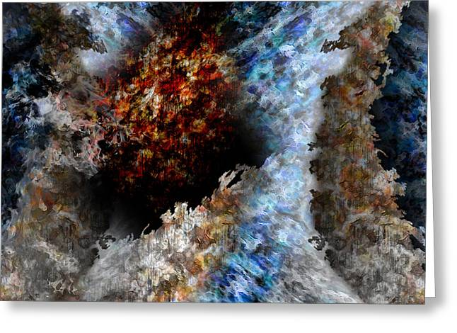 The Void Paintings Greeting Cards - Creation Greeting Card by Christopher Gaston