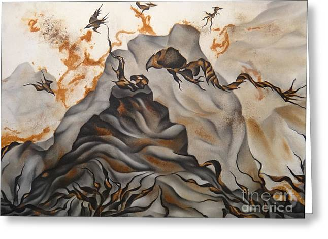 Rust Drawings Greeting Cards - Creation Greeting Card by Heather Crowther
