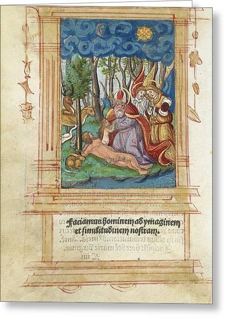 Creationism Greeting Cards - Creation Of Eve, Artwork Greeting Card by Detlev Van Ravenswaay